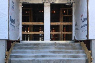 Exterior door of Building D