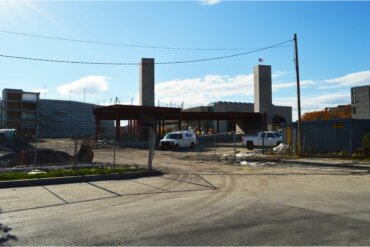 Construction continues on Building C, which will be solely dedicated to retail businesses.