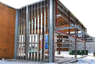 A view of the back of Building C, which will be exclusively devoted to retail space.