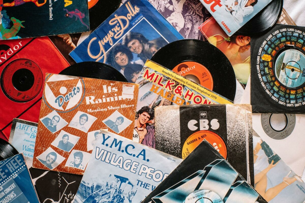Photo of vinyl record collection. Image credit: Matthias Groeneveld