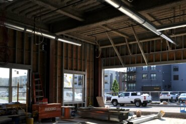 Interior work will begin soon in what will be the VIDA leasing office in Building B.