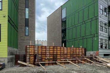 Work on the raised patio between buildings A & B is underway. It will provide a beautiful outside place for residents.