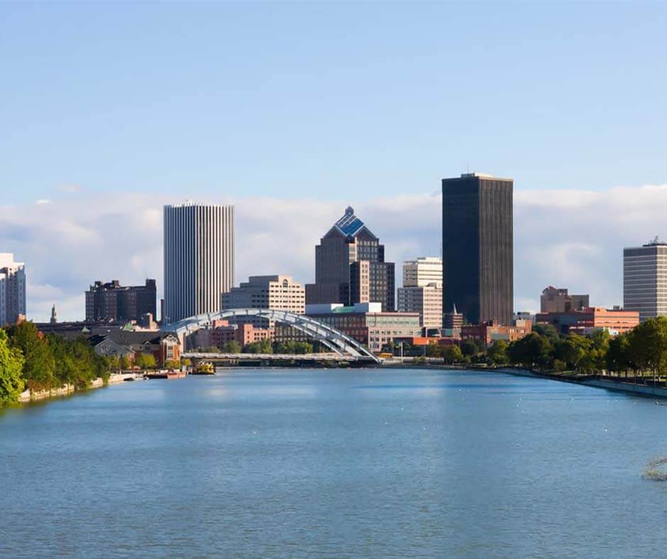 Downtown Rochester and the Genesee River